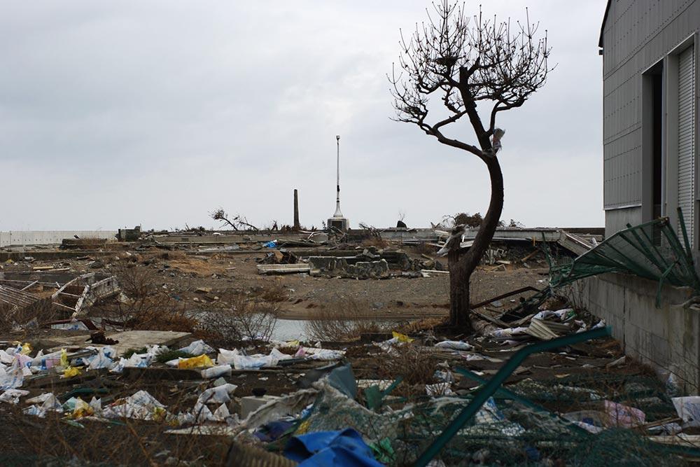 震災から一年後の仙台