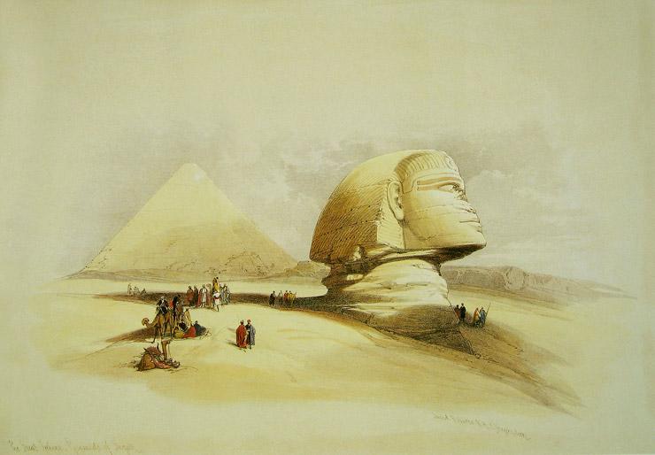 約200年前のスフィンクス