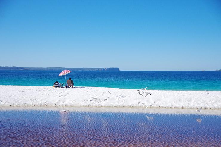世界一白い砂浜が広がる『ハイアムズ・ビーチ(Hyams Beach)』