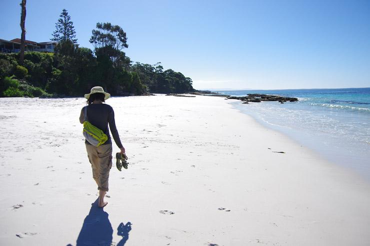 世界一白い砂浜