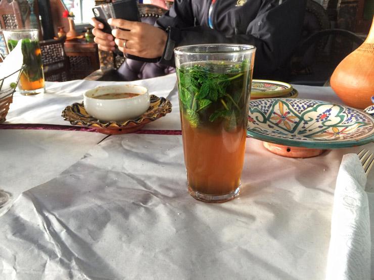モロッコ旅飯ミントティー