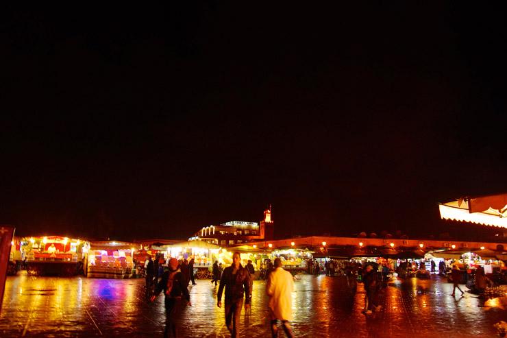 マラケシュのフナ広場でオススメの屋台