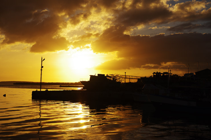Muelle Realの夕焼け