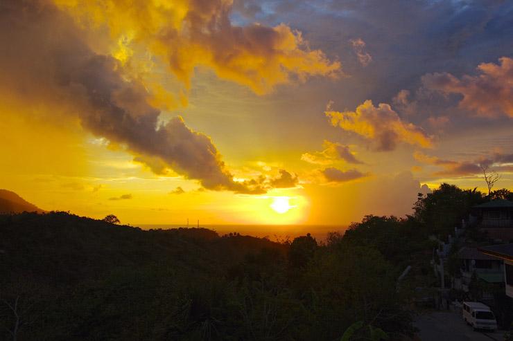 プエルトガレラの夕焼け