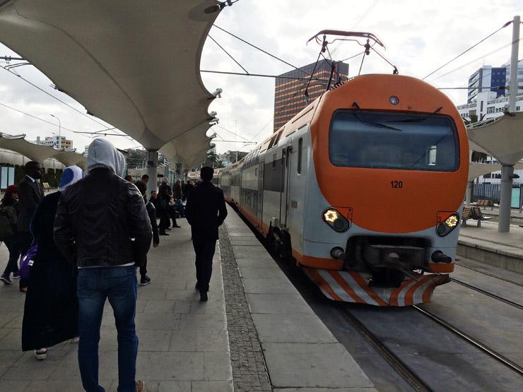 モロッコの電車
