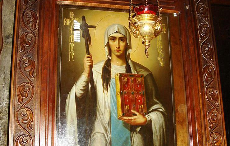 スヴェスティツホヴェリ大聖堂の聖女ニノのイコン