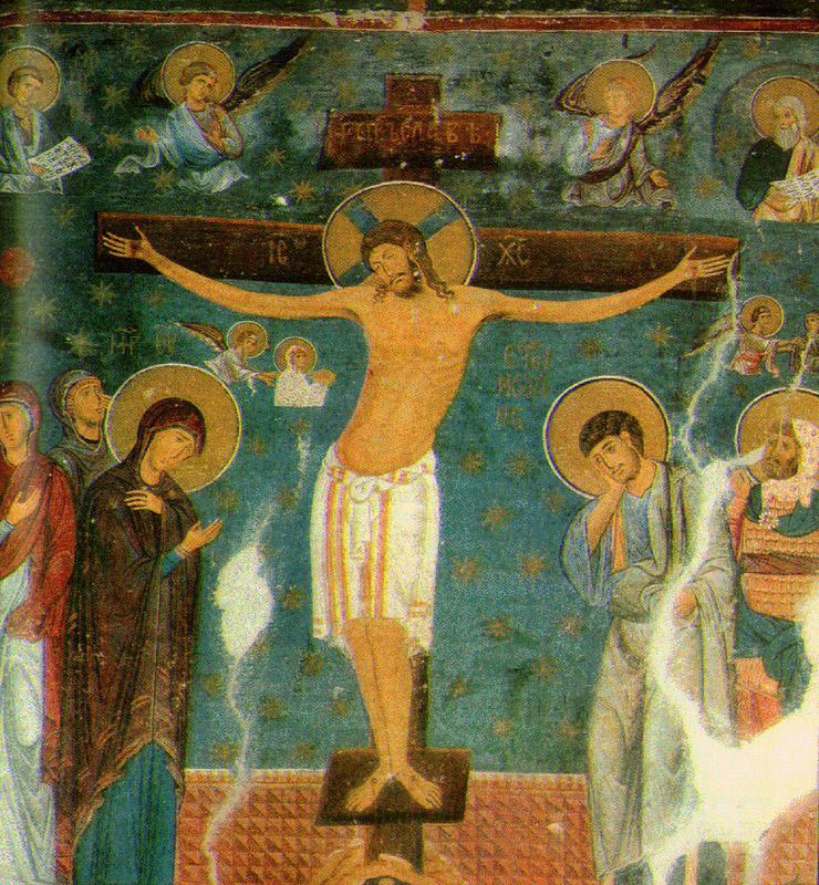 ストゥデニツァ修道院「磔刑図」