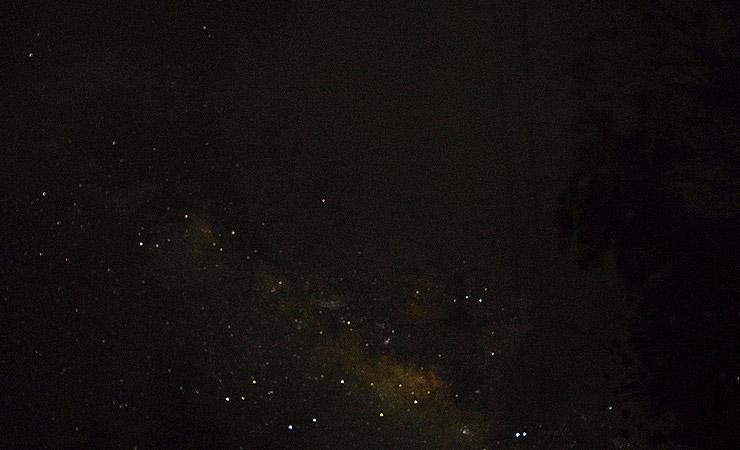 プエルトガレラで見た天の川