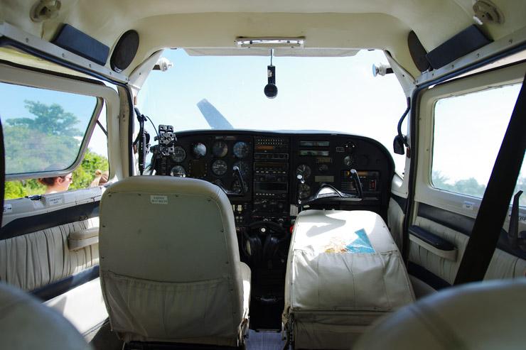 キー・カーカーにあるセスナ機の飛行場