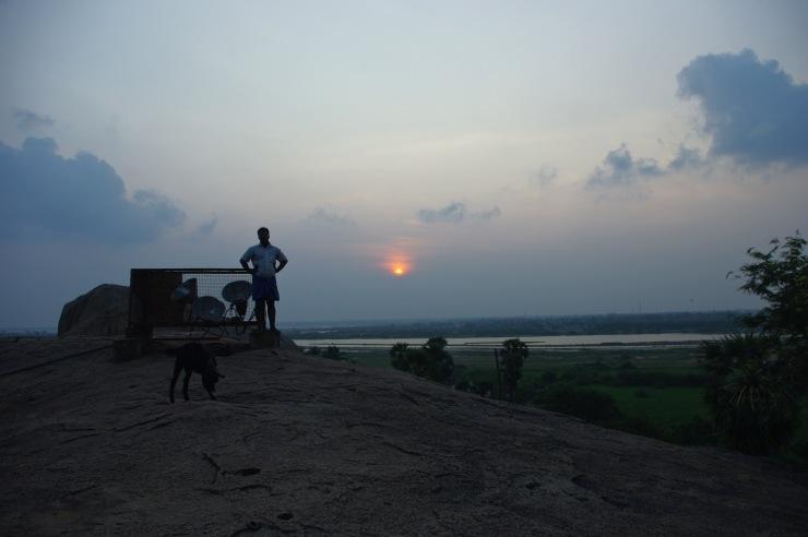 マハーバリプラムの夕日