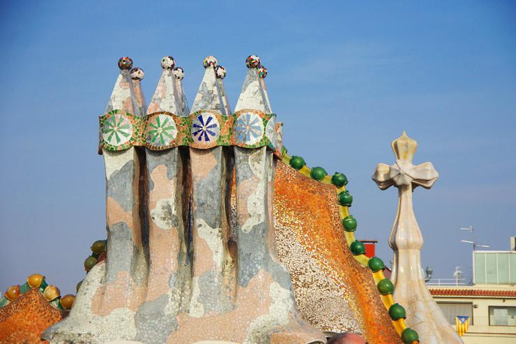 カサ・バトリョの煙突