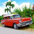 キューバで撮ったクラシックカーの写真
