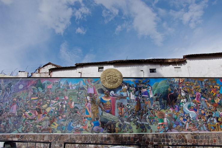 クスコの街にあった壁画