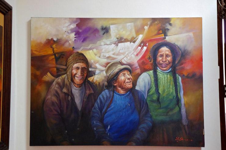 クスコの美術館にあった絵