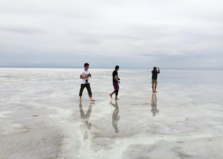 ウユニ塩湖っぽく撮った写真