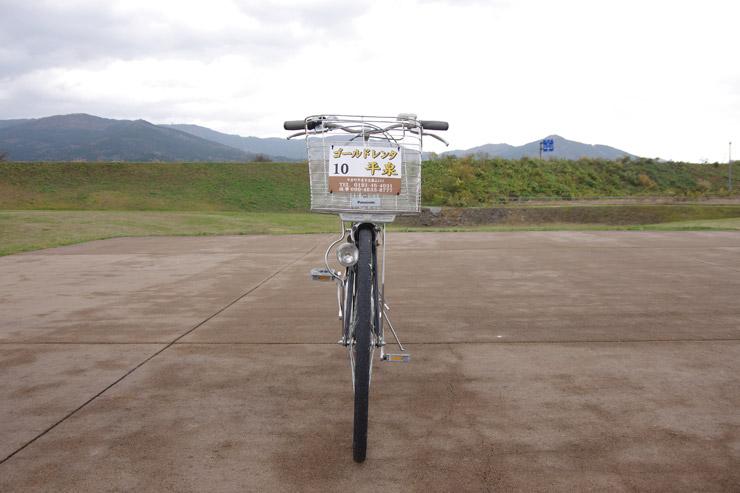 レンタルした電動自転車