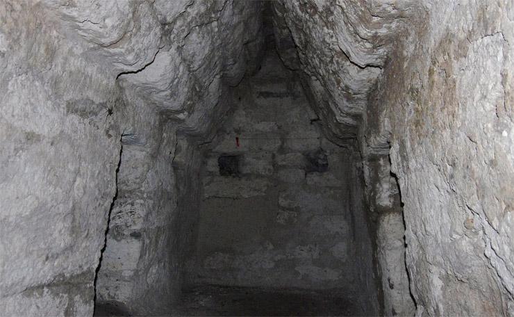 マヤ遺跡の内部