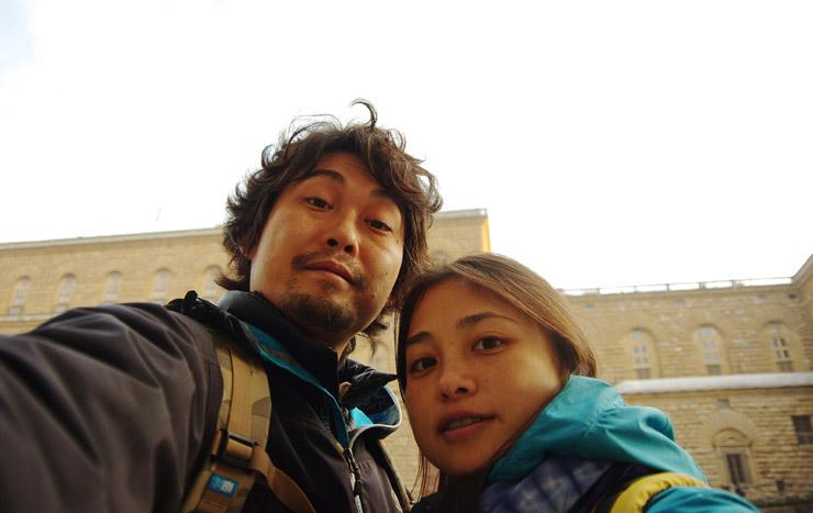 フィレンツェで記念撮影