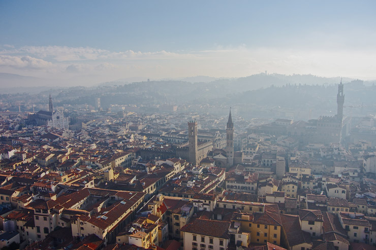 フィレンツェの素晴らしい街並