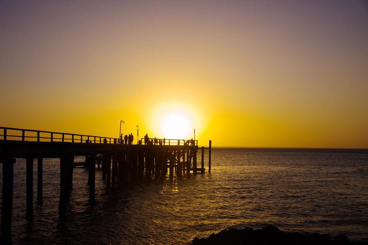 フレーザー島の夕日