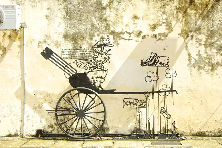 ペナン島のアイアンアート