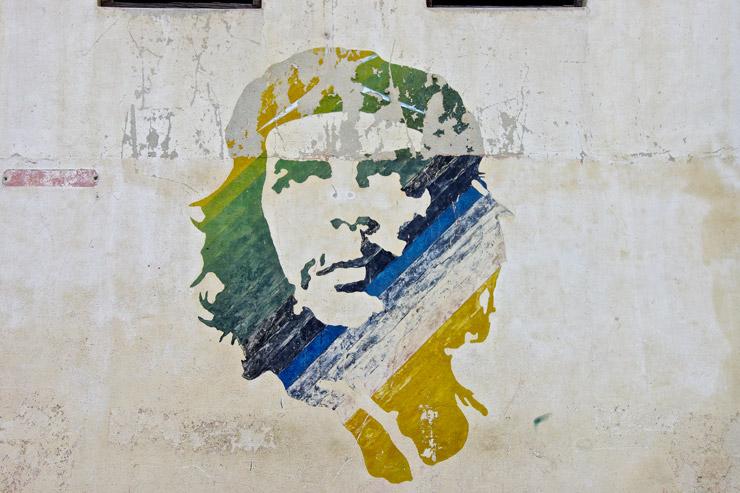 ゲバラの壁画