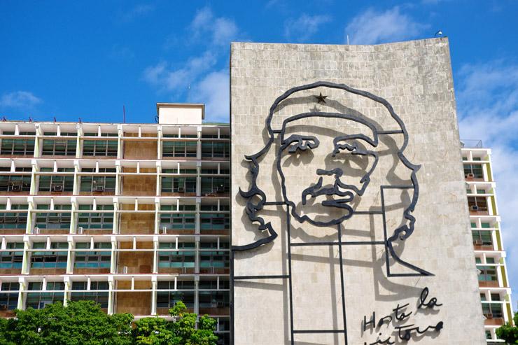 革命広場のゲバラ