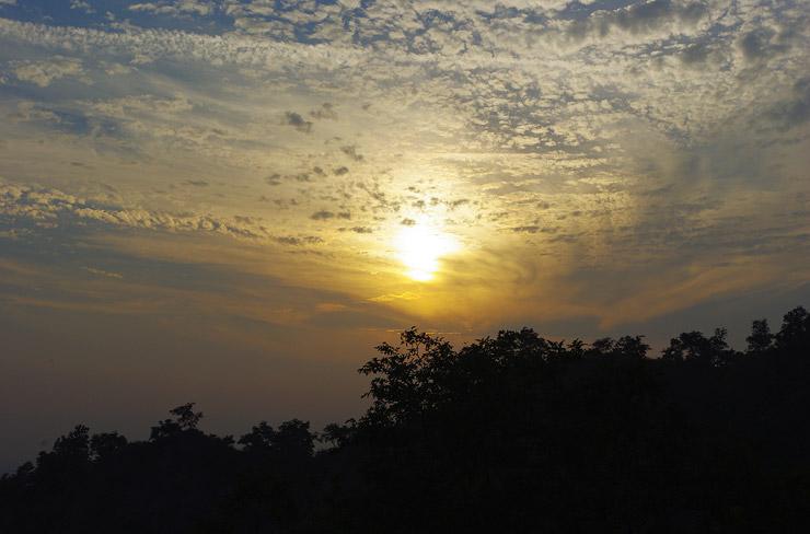 ハルドワールの夕日