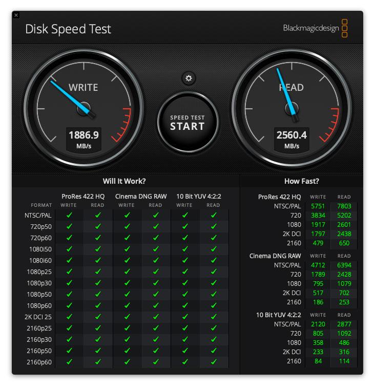 iMac 2019 SSD512のベンチマーク