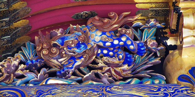 青い唐獅子