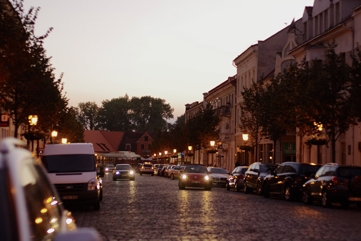 リガからリトアニアのクライペダまでのバス旅