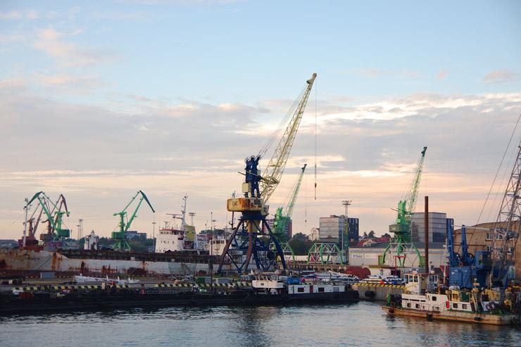 クライペダの港