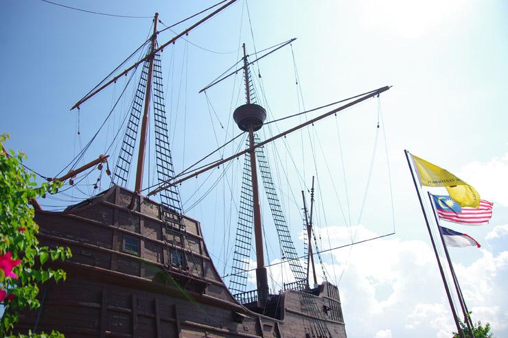 マラッカにあった木造船