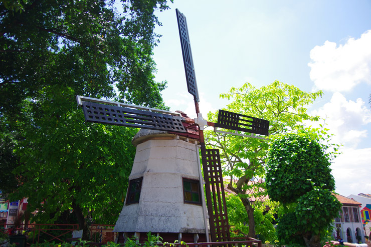 マラッカにあった風車