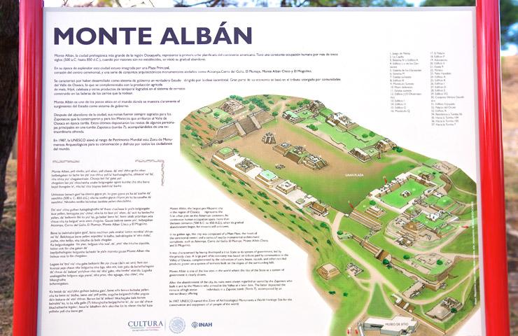 モンテ・アルバンの地図