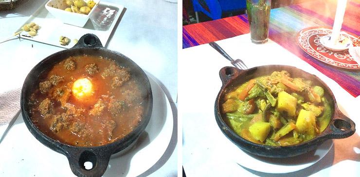 モロッコの旅飯