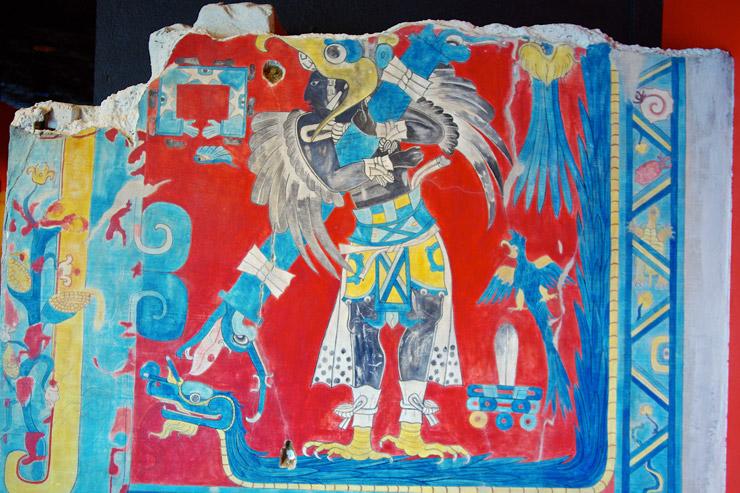 カシュトラ遺跡から発掘された壁画