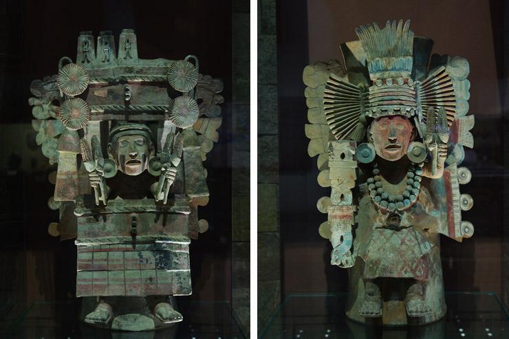 アステカ文明の出土品