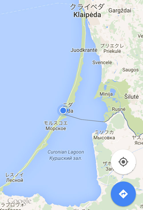 ニダとロシアの国境付近