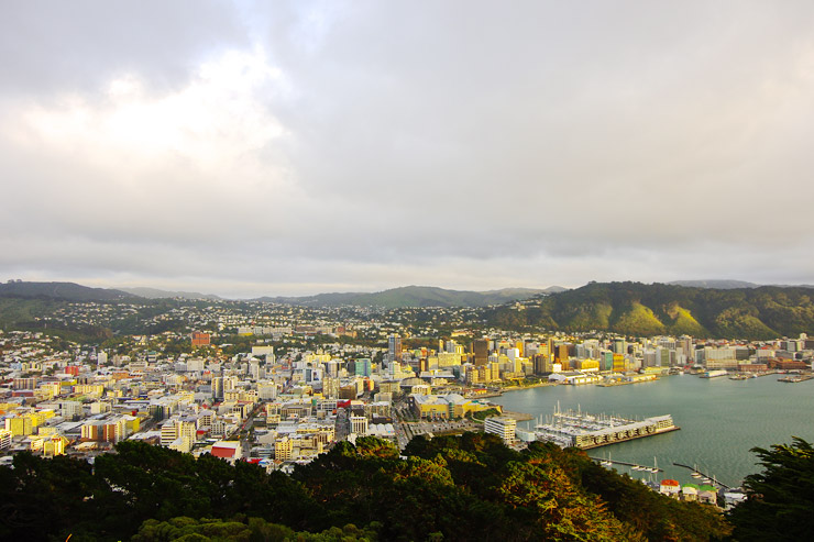 ニュージーランドの首都ウェリントンの風景