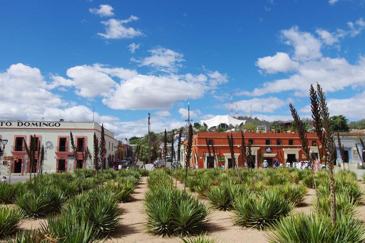 メキシコの突き抜けるような青空と強い日差しがまぶしいオアハカ