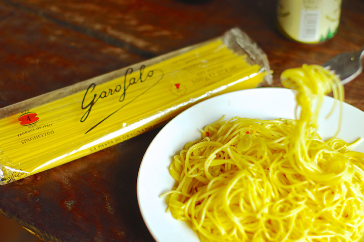 50セントスパゲティでペペロン