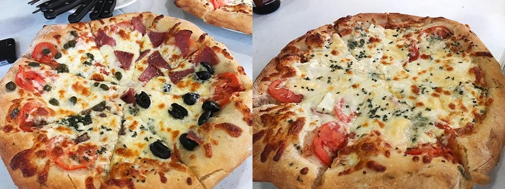 プエルトガレラで食べたピザ