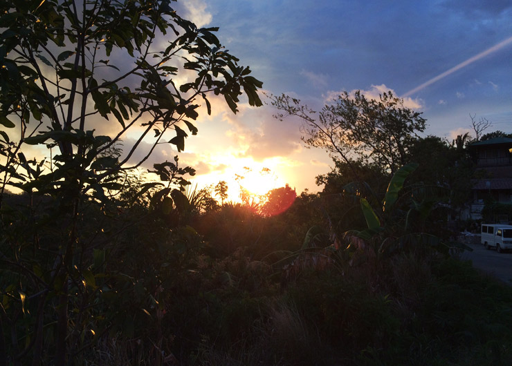 プエルトガレラの夕日