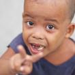 プエルトガレラで出会った子供達の写真
