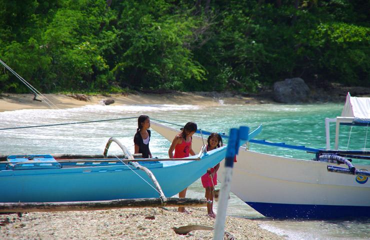 プエルトガレラの雰囲気の良いビーチ