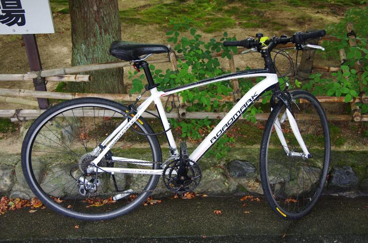 京都でレンタルしたクロスバイク