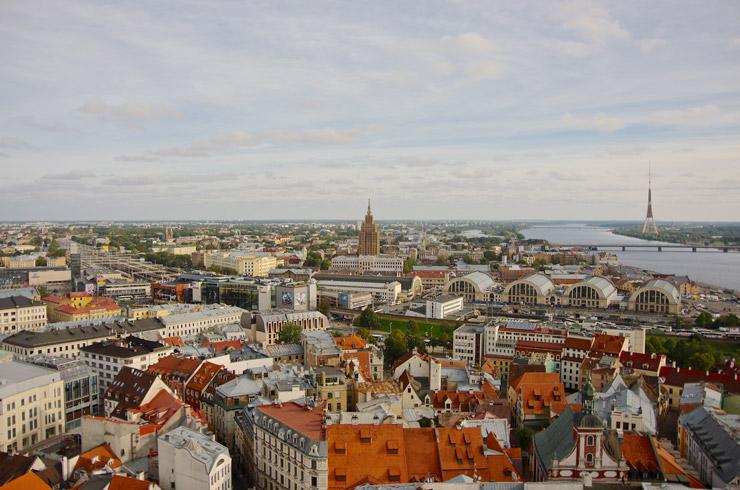 聖ペーテル教会で、教会の塔からリガの街を一望出来る