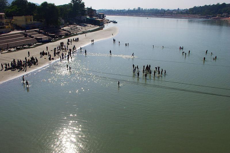 聖地リシュケシュのガンジス川