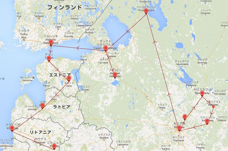 バルト三国通過MAP